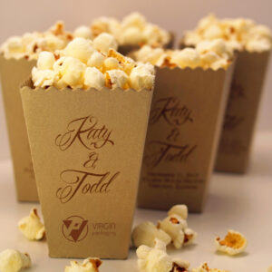 Kraft Popcorn Boxes