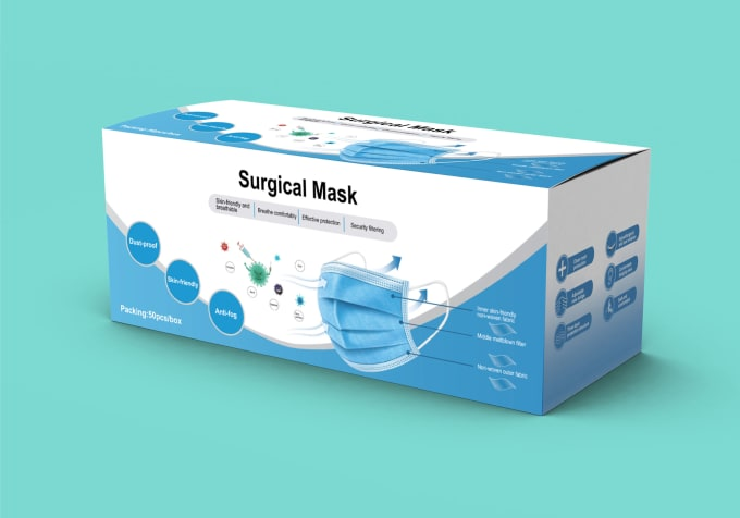 Surgical Face Mask Packaging Boxes — VirginPackaging Face ...